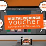 Ontvang een voucher van 50% van het totaal bedrag tot maximaal €2.500,- voor het digitaliseren van jouw onderneming!