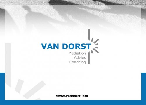 Van Dorst Mediation, Advies & Coaching